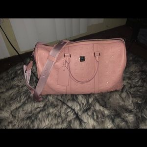 MCM duffle bag (pink leather)